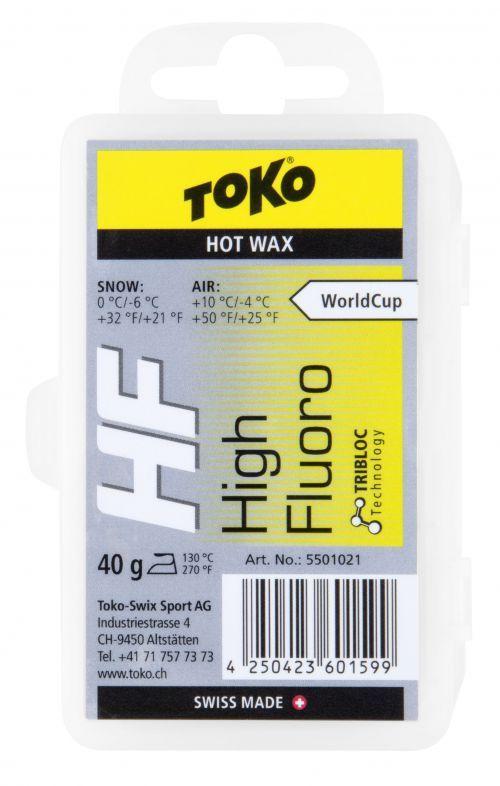 TOKO HF HOT WAX YELLOW fluorový vosk 40 g