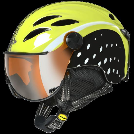 CP CURAKO lyžařská přilba sport design sulphur/whiter/black
