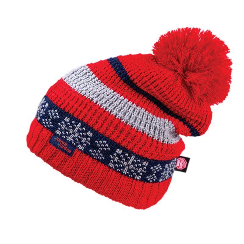 KAMA KW04-104 pletená čepice červená