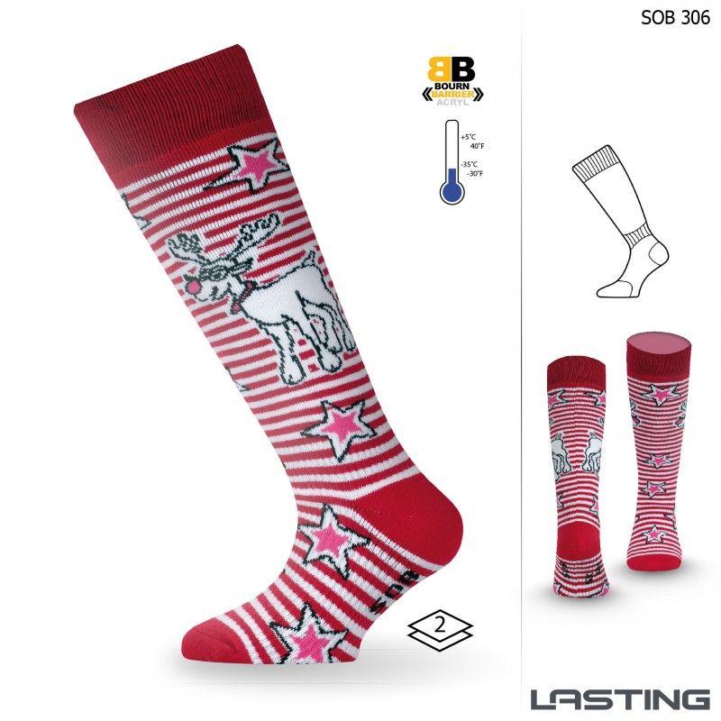 LASTING SOB dětské ponožky červená
