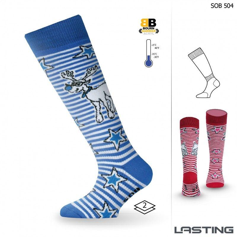 LASTING SOB dětské ponožky modrá