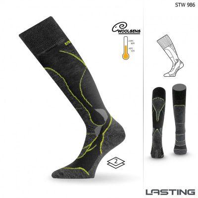 LASTING STW lyžařské ponožky černá