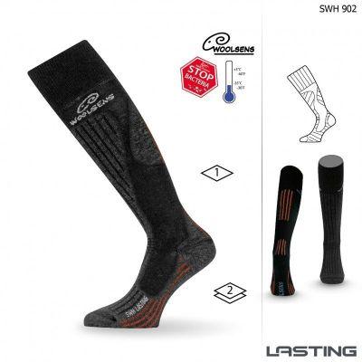 LASTING SWH lyžařské ponožky černá