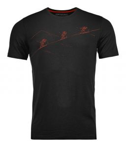 ORTOVOX 145 NAKED SHEEP T-SHIRT M tričko black raven