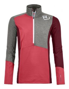 ORTOVOX FLEECE LIGHT ZIP NECK W dámská mikina hot coral