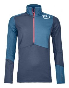 ORTOVOX FLEECE LIGHT ZIP NECK W dámská mikina night blue
