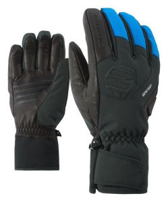 ZIENER GONZALES GTX prstové rukavice black persian blue