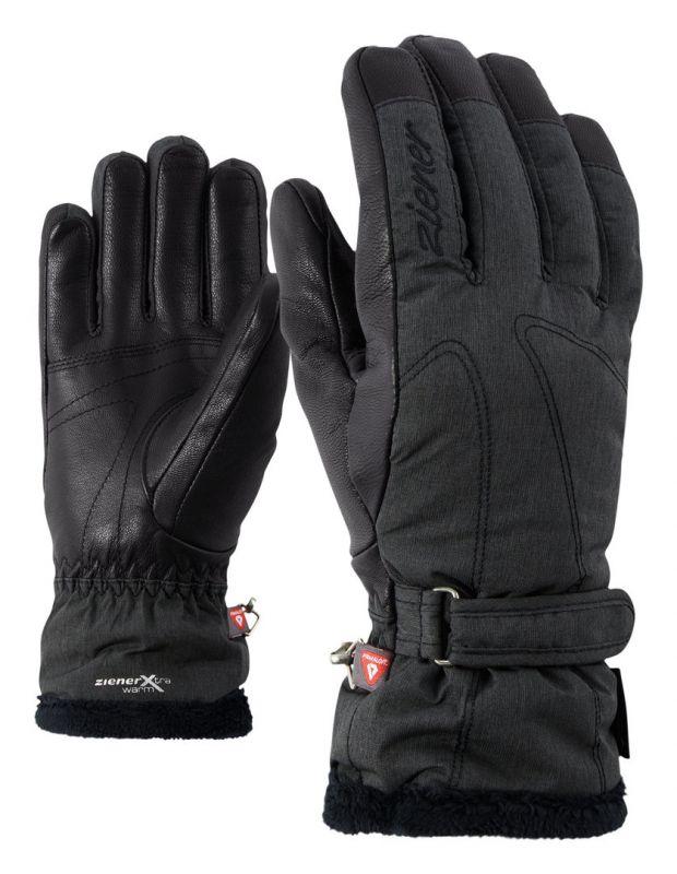 ZIENER KALANA GTX dámské prstové rukavice black melange