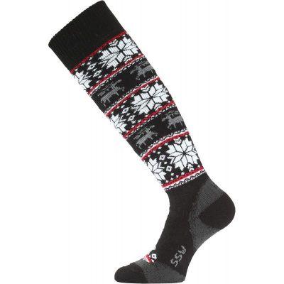 LASTING SSW dámské lyžařské ponožky černá