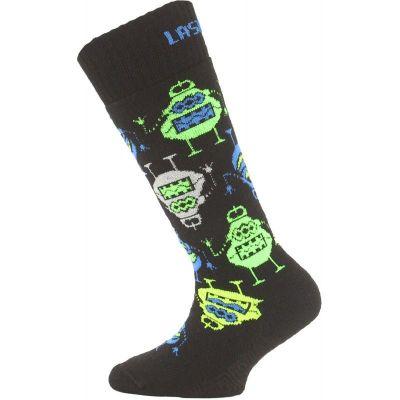 LASTING SJE dětské ponožky zelená
