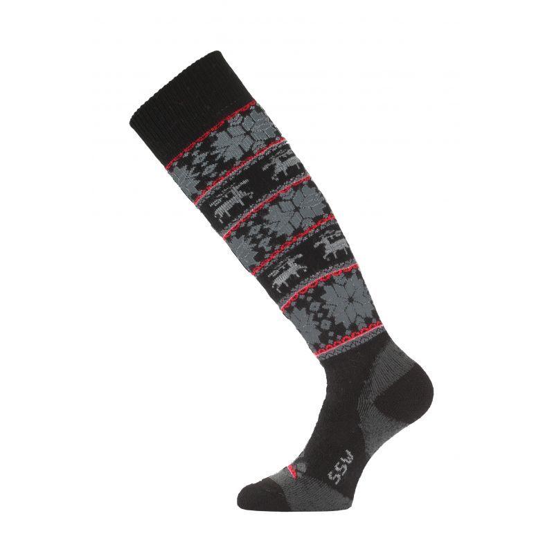 LASTING SSW-903 dámské lyžařské ponožky černá