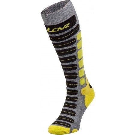 LENZ SKIING 2.0 094-20 lyžařské ponožky anthracite/lime 19/20