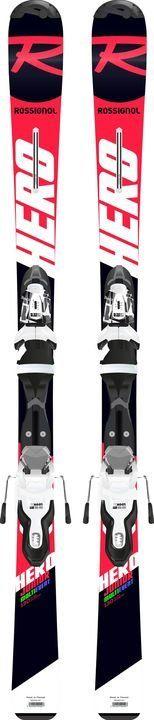 ROSSIGNOL HERO JR 130-150 + vázání Xpress Jr 7 B83 bk/wht dětské lyže set 19/20