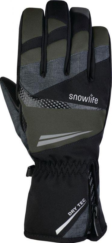 SNOWLIFE COMFORT DT prstové rukavice black/grey