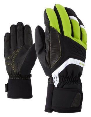 ZIENER GALVIN AS® pánské lyžařské rukavice lime green 19/20