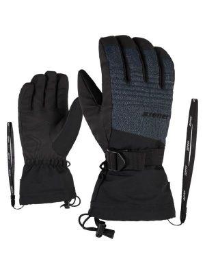 ZIENER GANNIK AS® pánské lyžařské rukavice grey denim 19/20