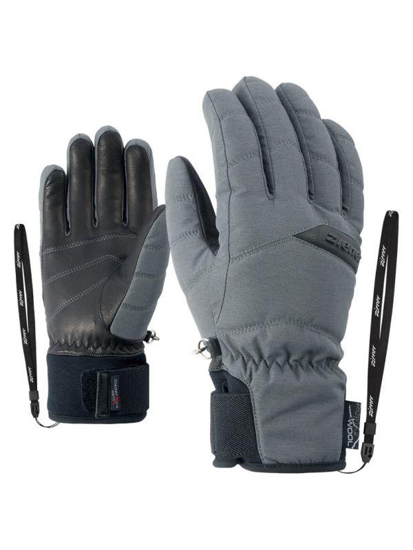 ZIENER KOMI AS® AW LADY 801146-817 dámské lyžařské rukavice magnet melange 19/20