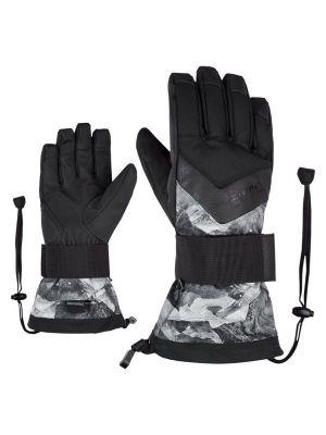 ZIENER MILAN AS® pánské snowboardové rukavice grey mountain print 19/20