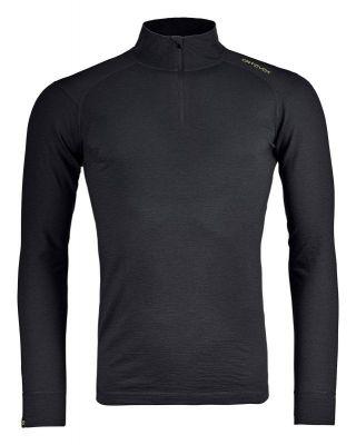 ORTOVOX 145 ULTRA ZIP NECK M pánské tričko black raven