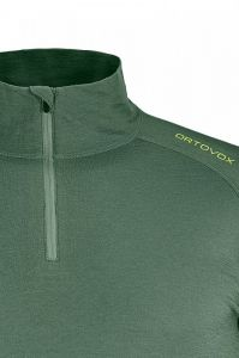 ORTOVOX 145 ULTRA ZIP NECK M 84388000-90201 pánské tričko black raven