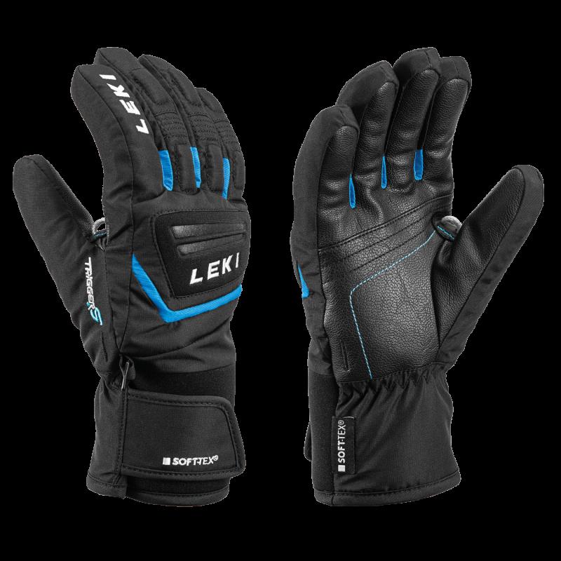 LEKI GRIFFIN S 649805703 JUNIOR prstové rukavice black-cyan 20/21