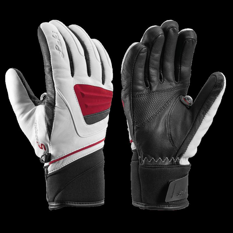 LEKI GRIFFIN S LADY 649801203 dámské prstové rukavice white-black-bordo 19/20