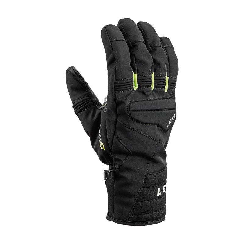 LEKI PROGRESSIVE 7 S MF TOUCH 643882302 prstové rukavice black-lime 19/20