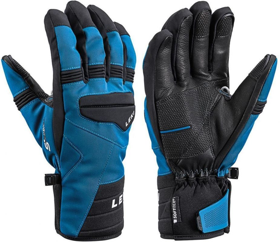 LEKI PROGRESSIVE 7 S MF TOUCH 643882304 prstové rukavice petrol-black 19/20