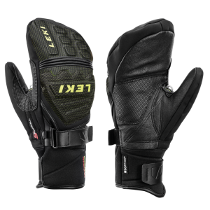 LEKI RACE COACH C-TECH S MITT palcové rukavice black-ice-lemon 19/20