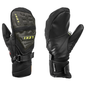 LEKI RACE COACH C-TECH S JUNIOR MITT palcové rukavice black-ice-lemon 19/20