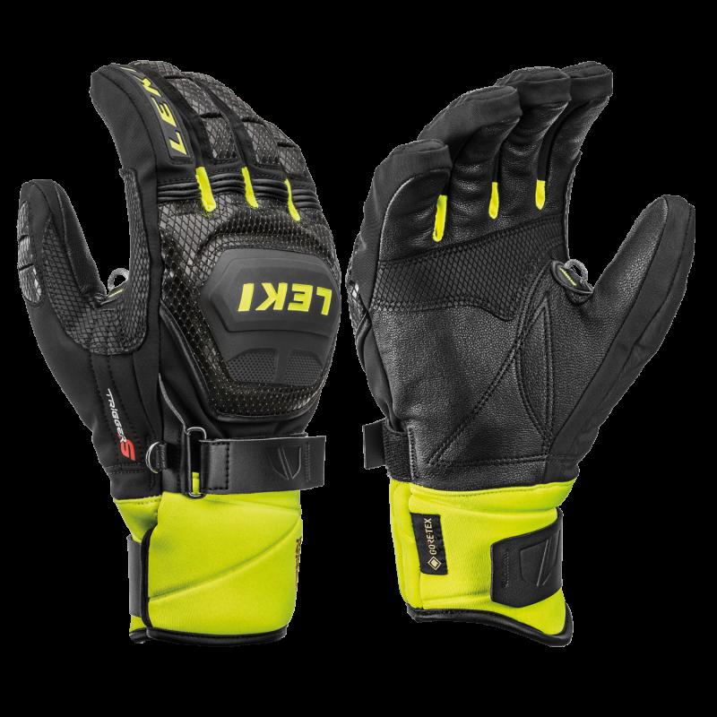 LEKI WORLDCUP RACE COACH FLEX S GTX 649805301 prstové rukavice black-ice-lemon 19/20