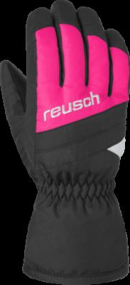 REUSCH BENNET R-TEX® XT Junior dětské rukavice black/pink glo 19/20