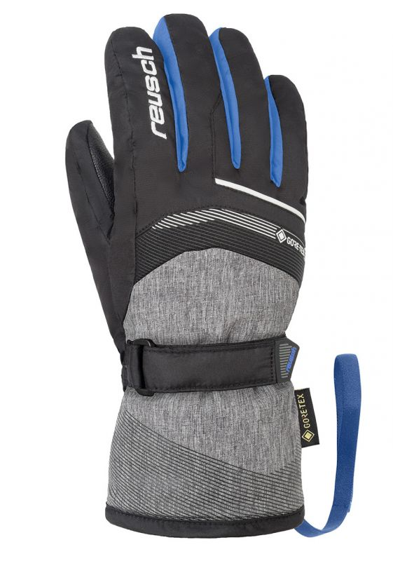 REUSCH BOLT GTX Junior dětské rukavice black/black melange/brilliant blue 19/20