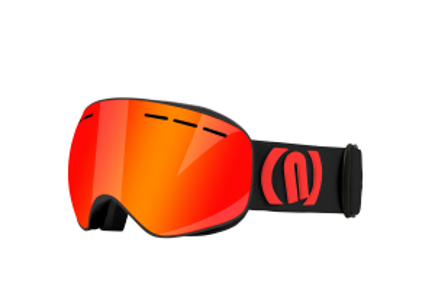 NEON ALIEN lyžařské brýle black red