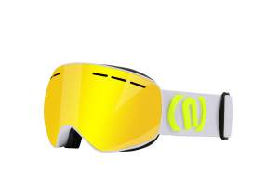NEON ALIEN lyžařské brýle silver