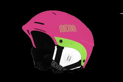 NEON KING REG lyžařská helma pink fluo
