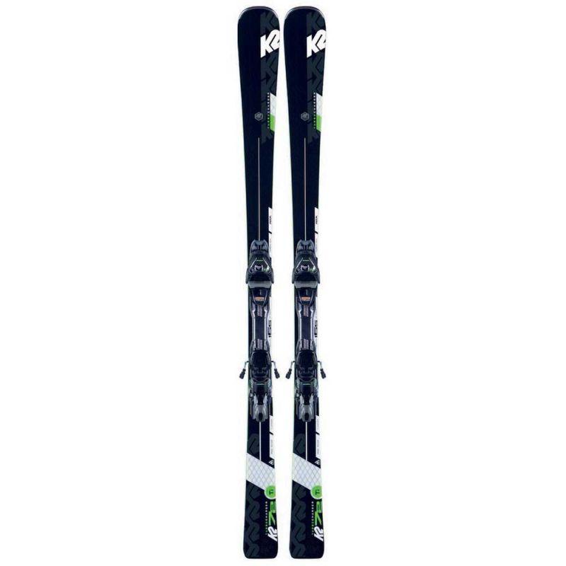 K2 TURBO CHARGER + MXC 12 TCx light QUIKCLIK sjezdové lyže set black/green 19/20