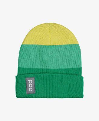 POC STRIPE BEANIE čepice emerald multi green/light sulfur yellow