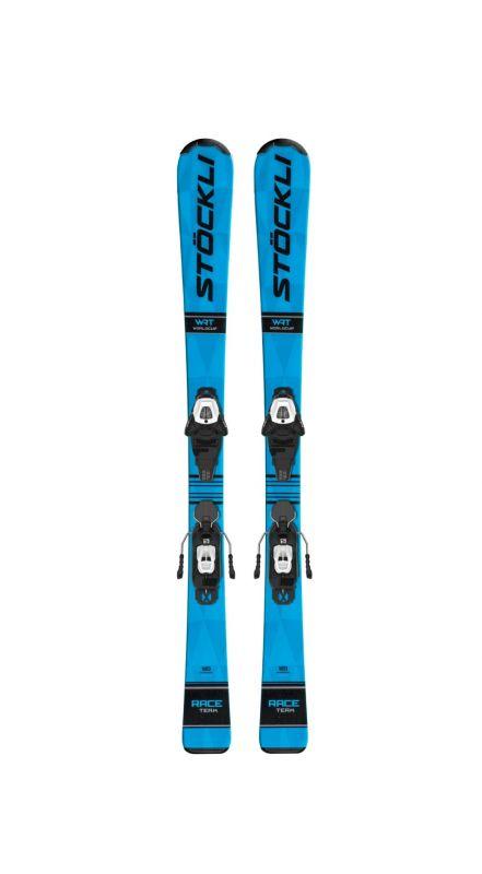 STÖCKLI RACE TEAM + vázání SALO-L6 J75 black/white dětské sjezdové lyže set 20/21 Stöckli