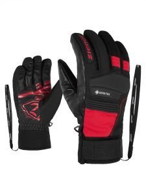 ZIENER GIL GTX + GORE ACTIVE lyžařské rukavice fiesta red