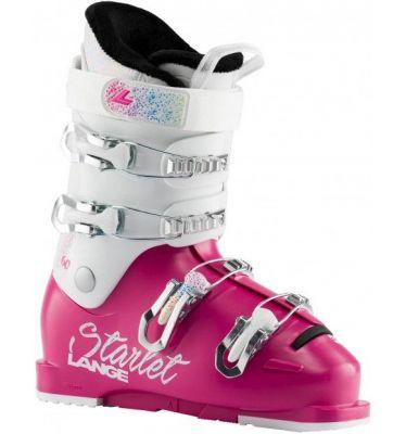 LANGE STARLET 60 dětské sjezdové boty magenta Sparkle wh