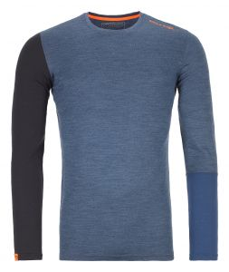 ORTOVOX 185 ROCK'N'WOOL LONG SLEEVE M night blue blend pánské tričko