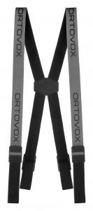 ORTOVOX LOGO SUSPENDERS kšandy grey blend