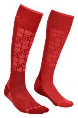 ORTOVOX SKI COMPRESSION SOCKS W dámské ponožky dark blood