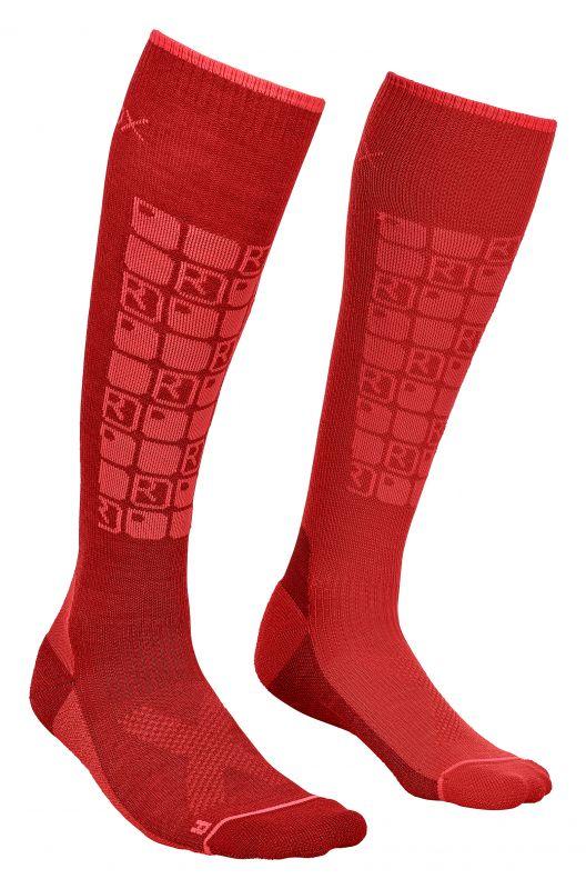 ORTOVOX SKI COMPRESSION SOCKS W dark blood dámské ponožky