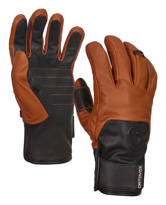 ORTOVOX SWISSWOOL LEATHER GLOVE brown rukavice 20/21