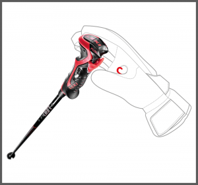 LEKI AIRFOIL 3D sjezdové hole black-fluorescent red-white 20/21