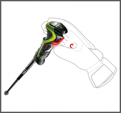 LEKI AIRFOIL 3D sjezdové hole black-palegreen-white 20/21