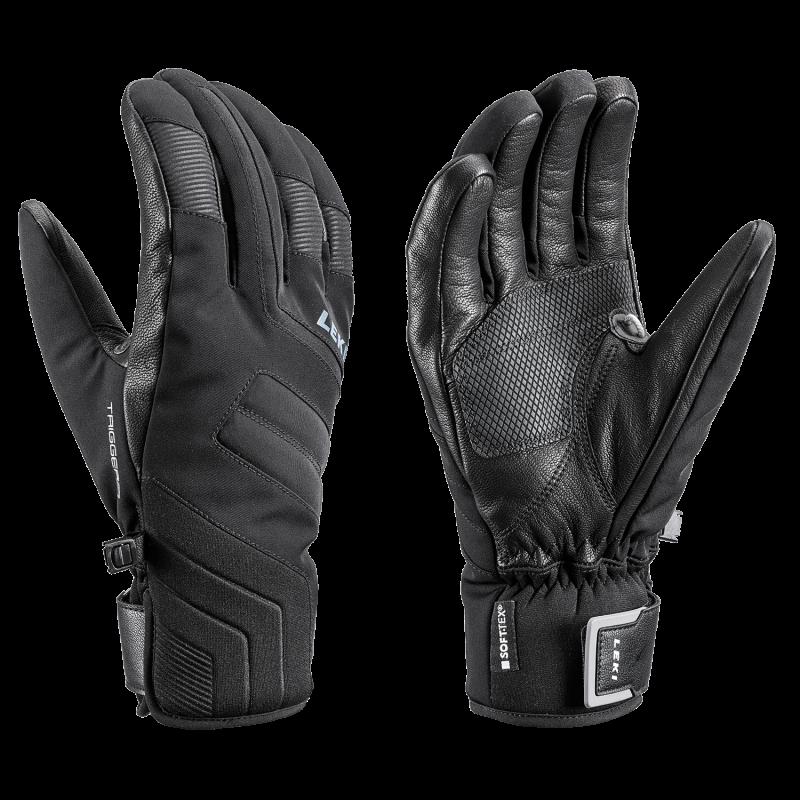 LEKI FALCON 3D lyžařské rukavice black-lime 20/21