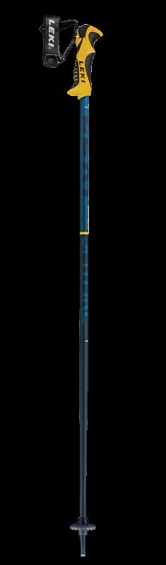 LEKI SPITFIRE LITE S dětské sjezdové hole denimblue-aegeanblue-mustardyellow 20/21
